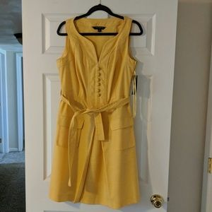 Sharagano 10 Yellow Dress New with tags